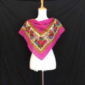 New Magenta square scarf Small Head scarf Bandana